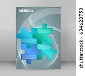 modern medical background  ... | Shutterstock .eps vector #634628753