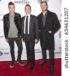 Small photo of NEW YORK, NY - APRIL 23, 2017: (L-R) Omar Sharif Jr., Executive Producer Ray Boudreau and guest attend 'The Clapper' Premiere during the 2017 Tribeca Film Festival at SVA Theatre