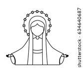 holy virgin mary icon   Shutterstock .eps vector #634640687