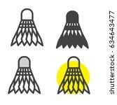 shuttlecock icon | Shutterstock .eps vector #634643477