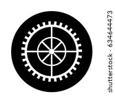 machinery gear isolated icon | Shutterstock .eps vector #634644473