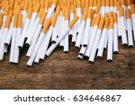 stack tobacco cigarettes with...   Shutterstock . vector #634646867