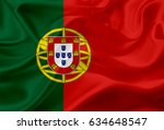 national flag of portugal  with ... | Shutterstock . vector #634648547