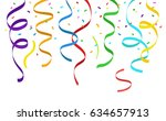 confetti and hanging party... | Shutterstock .eps vector #634657913