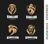 lion logo set   vector... | Shutterstock .eps vector #634658633