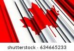 fragment flag of canada. 3d... | Shutterstock . vector #634665233