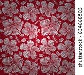 vector aloha hawaiian t shirt... | Shutterstock .eps vector #634668503