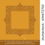 flower decorative ornamental... | Shutterstock .eps vector #634672703