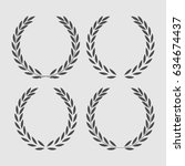 set icon laurel wreath   vector ... | Shutterstock .eps vector #634674437