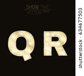 Gold Letters Q And R With...