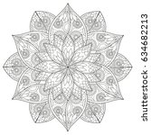 black and white floral pattern... | Shutterstock .eps vector #634682213