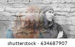 multiple exposures of young... | Shutterstock . vector #634687907