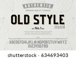 font.alphabet.script.typeface... | Shutterstock .eps vector #634693403
