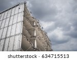 building ruin   destroyed house ... | Shutterstock . vector #634715513