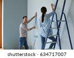 portrait of happy smiling young ... | Shutterstock . vector #634717007