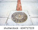 freedom trail end at bunker... | Shutterstock . vector #634717223