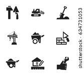 set of 9 editable construction...
