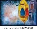 islamic muslim holiday ramadan... | Shutterstock . vector #634738607