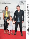 Small photo of NEW YORK, NY - APRIL 23: (L-R) Yrthya Dinzey-Flores, Amara Lorien D'Ambrosio, and Antonino D'Ambrosio attend the 'Frank Serpico' Premiere at Cinepolis Chelsea on April 23, 2017 in New York City.