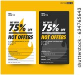 hot offers card ui design with...