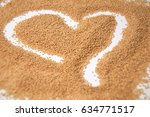 Amaranth Seeds In A Heart Shap...