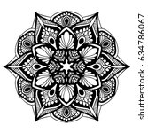 mandalas for coloring book.... | Shutterstock .eps vector #634786067