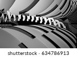 abstract dynamic interior with... | Shutterstock . vector #634786913