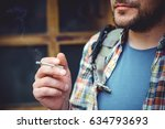 a man  a resident of a large... | Shutterstock . vector #634793693