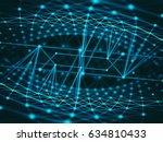 cyber virtual space technology... | Shutterstock . vector #634810433