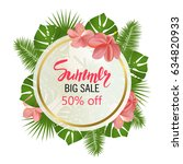 summer big sale banner  poster... | Shutterstock .eps vector #634820933