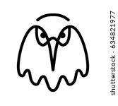 eagle. bird head contour on a... | Shutterstock .eps vector #634821977