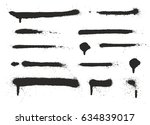 super skinny spray paint drips  ... | Shutterstock .eps vector #634839017
