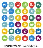 transport icons set | Shutterstock .eps vector #634839857