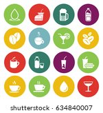 drink icons  | Shutterstock .eps vector #634840007