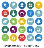 christmas icons set   Shutterstock .eps vector #634840457