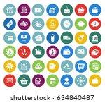 commerce icons set   Shutterstock .eps vector #634840487
