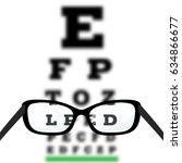 eye vision test  poor eyesight... | Shutterstock . vector #634866677
