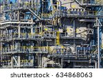 oil refinery. mongstad  norway. | Shutterstock . vector #634868063