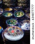 handcrafted turkish crockery...   Shutterstock . vector #634877777
