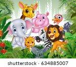 cartoon wild animal in the... | Shutterstock .eps vector #634885007