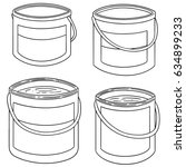 vector set of paint bucket | Shutterstock .eps vector #634899233