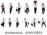 young man with briefcase... | Shutterstock . vector #634915853