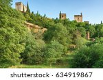alhambra  world famous monument ... | Shutterstock . vector #634919867