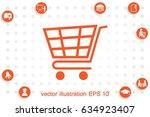 cart icon vector illustration...   Shutterstock .eps vector #634923407