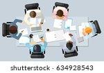 business meeting concept.... | Shutterstock .eps vector #634928543