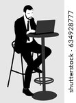 young urban professional man... | Shutterstock .eps vector #634928777