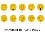 a vector collection of feelings ... | Shutterstock .eps vector #634950683
