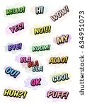 set of funny exclamations  huh  ... | Shutterstock .eps vector #634951073