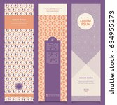 set of abstract banners with... | Shutterstock .eps vector #634955273