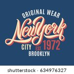 new york city t shirt design.... | Shutterstock .eps vector #634976327